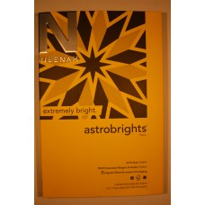 "8.5"" x 11"" GL 28.77M 80# Solar Yellow Neenah Astrobrights Cover"