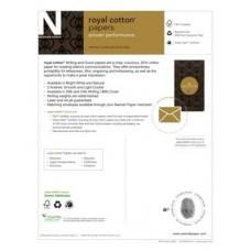 #10 Regular 24# Bright White Neenah Royal Cotton 25% Light Cockle